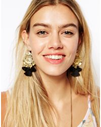 ASOS - Black Rio Tassel Earrings - Lyst