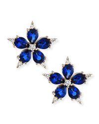 Paul Morelli | Small Stellanise Blue Sapphire & Diamond Stud Earrings | Lyst