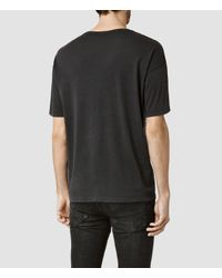 AllSaints - Black Pyramid Crew T-shirt for Men - Lyst