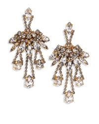 Erickson Beamon | Metallic Young & Innocent Crystal Chandelier Earrings | Lyst