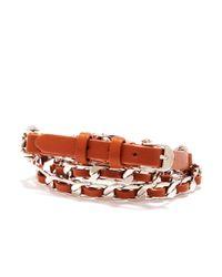 Henri Bendel - Brown Chain Triple Wrap Bracelet - Lyst