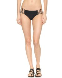 Mikoh Swimwear - Black Kapalua Skinny String Bikini Bottoms - Night - Lyst