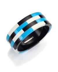 Michael Kors - Blue Mosaic Resin Bangle Bracelet - Lyst
