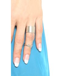 Elizabeth and James | Metallic Mies Knuckle Ring | Lyst