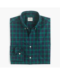 J.Crew | Green Slim Secret Wash Shirt In Shamus Tartan for Men | Lyst