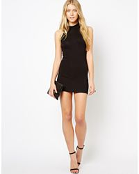 Love | Black Midi Bodycon Dress | Lyst