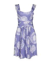 Versace Jeans | Purple Short Dress | Lyst