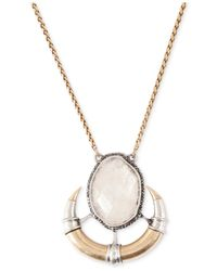 Lucky Brand - Metallic Stone And Horn Pendant Necklace - Lyst