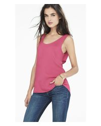 Express | Pink Cross Back Cutout Tank | Lyst