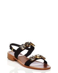 kate spade new york | Black Bacau Sandals | Lyst