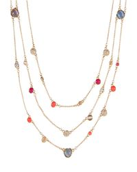 kate spade new york | Multicolor Bashful Blossom Triple Strand Necklace | Lyst