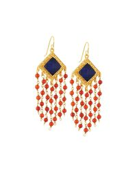 Stephanie Kantis - Blue Faceted Dangle Earrings - Lyst