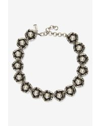 Cocoa Jewelry | Gray Rosetta Chain Collar Necklace | Lyst
