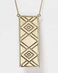 House of Harlow 1960 - Metallic Tribal Talisman Reversible Pendant Necklace  - Lyst