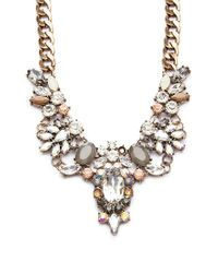 Forever 21 | Metallic Clustered Faux Gem Statement Necklace | Lyst