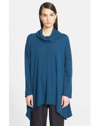 Eskandar - Blue Cowl Neck Cashmere Sweater - Lyst