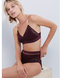 Free People | Purple Intimately Womens Morning Dove Soft Bra | Lyst