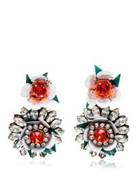 Shourouk - White Flower Earrings - Lyst