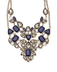 Forever 21 - Blue Rhinestone Statement Necklace Set - Lyst