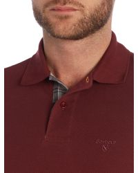 Barbour | Red Long Sleeve Sports Polo Shirt for Men | Lyst
