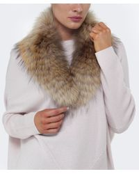 Yves Salomon - Natural Fur Collar - Lyst
