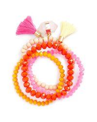 Panacea | Multicolor 'bright' Multistrand Stretch Bracelet - Multi | Lyst