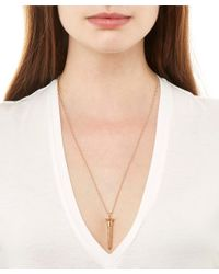 True Rocks | Metallic Large Rose Gold-plated Screw Necklace | Lyst