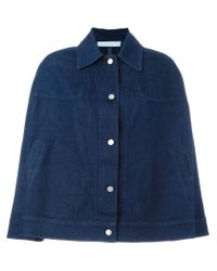 See By Chloé - Blue Denim Cape Jacket - Lyst
