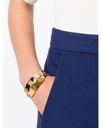 Tory Burch | Metallic Double Logo Bracelet | Lyst