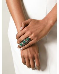 Loree Rodkin - Green Spider Web Bondage Ring - Lyst
