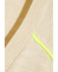 J.Crew - White Neon-Piped Merino Wool Sweater - Lyst
