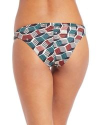 Beautiful Bottoms - Multicolor Reverse Ruched Bikini Bottom - Lyst