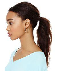 Nasty Gal - Metallic Camille Hoop Earrings - Lyst