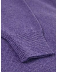 Jules B - Purple Crew Neck Lambswool Sweater for Men - Lyst