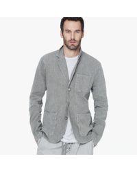James Perse - Blue Cotton Linen Blazer for Men - Lyst