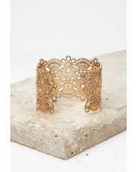 Forever 21 - Metallic Spike Caged Cutout Cuff - Lyst