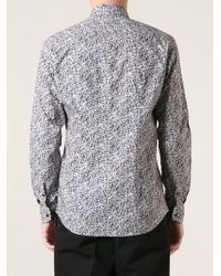 Fendi - Blue Geometric Print Shirt for Men - Lyst