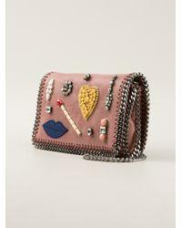 Stella McCartney - Pink Embellished Falabella Shoulder Bag - Lyst