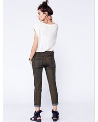 Free People - Blue Rolled Cropped Skinny - Lyst
