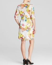 Kut From The Kloth - Pink Floral Print Shirt Dress - Lyst