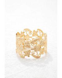 Forever 21 - Metallic Ornate Filigree Bracelet - Lyst