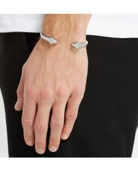 Alexander McQueen | Metallic Silver Cuff for Men | Lyst