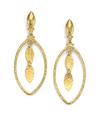 Gurhan | Metallic Willow 24k Yellow Gold Marquis Drop Earrings | Lyst