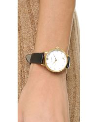 Kate Spade | Black Metro Monogram Watch - J | Lyst
