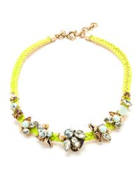J.Crew - Yellow Crystal Rope Necklace - Lyst