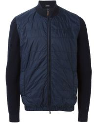 BOSS - Blue 'enzio' Bomber Jacket for Men - Lyst