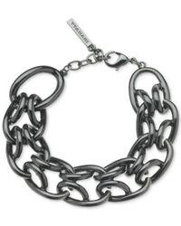 T Tahari | Metallic Hematite-Tone Signature Links Chunky Bracelet | Lyst