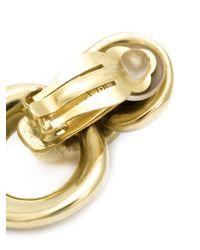 Vaubel Metallic Interlocking Hoop Clip-on Earrings