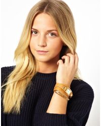 La Mer Collections - Metallic Tan Gold Wrap Around Watch - Lyst