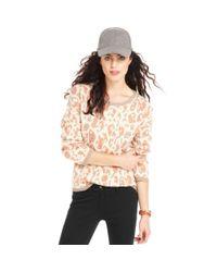 Maison Jules - Multicolor Maison Jules Sweater Longsleeve Scoopneck Leopardprint - Lyst